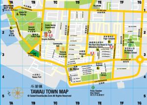 Map of Tawau Town
